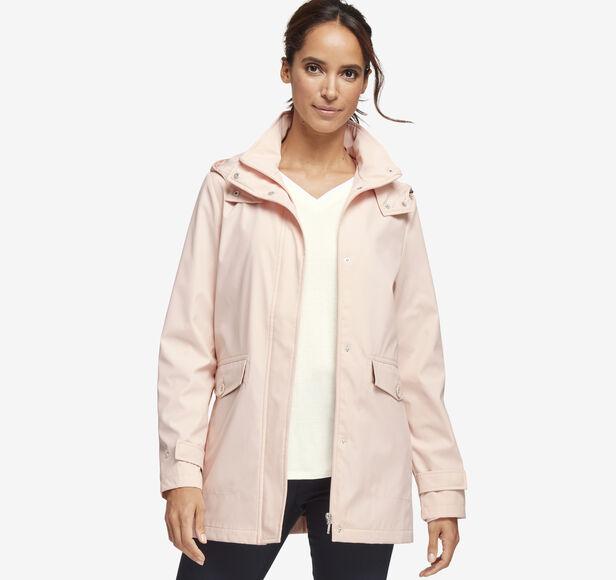 Sateen Hooded Jacket Details | Tuggl