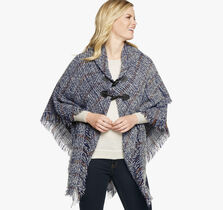 Plaid Toggle Poncho