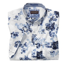 Layered Floral Print Short-Sleeve Shirt