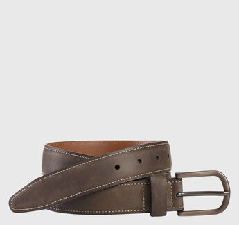Oiled Contrast Stitched Belt