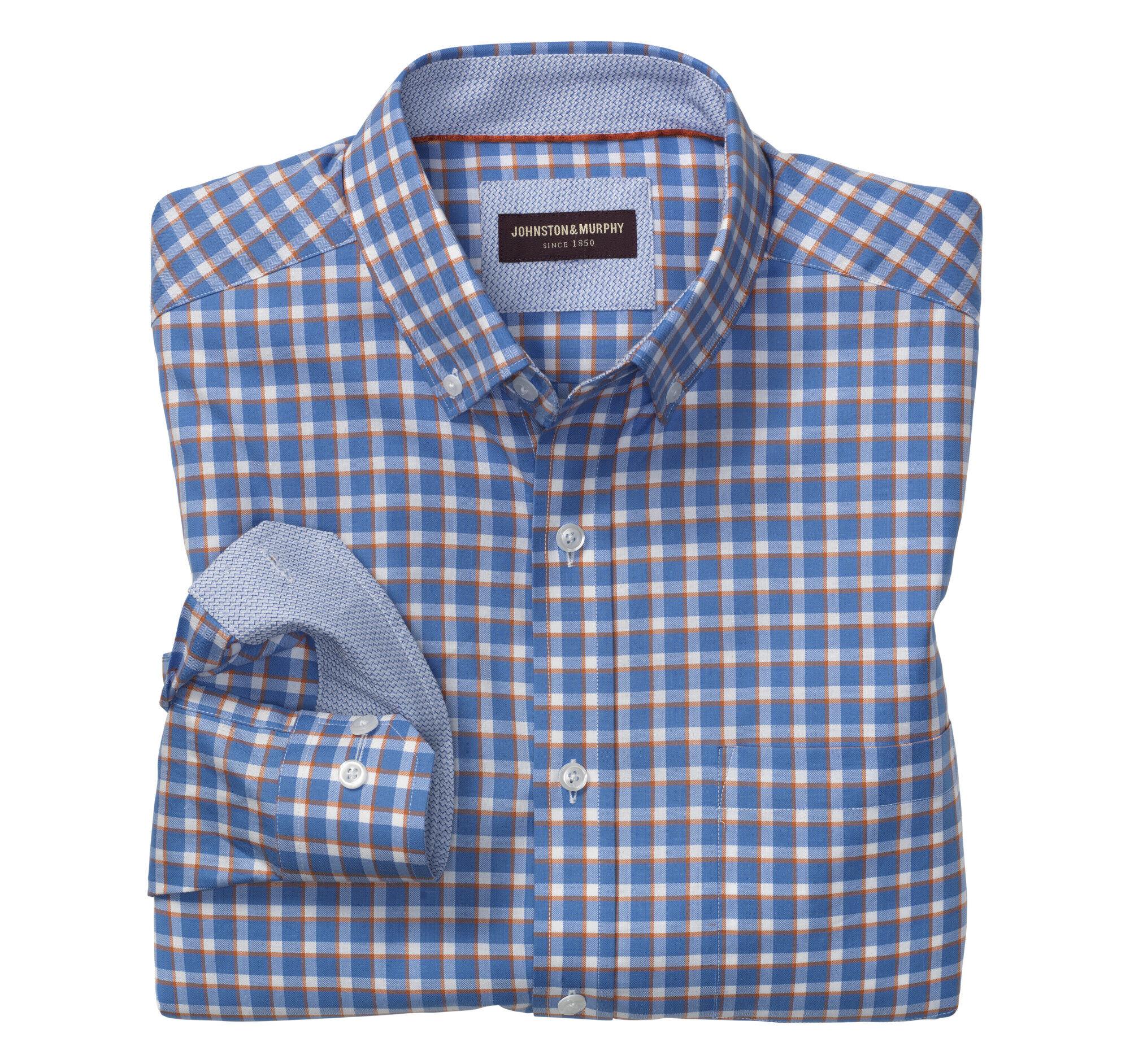 14604b3916 Blue Button Down Shirt With White Collar