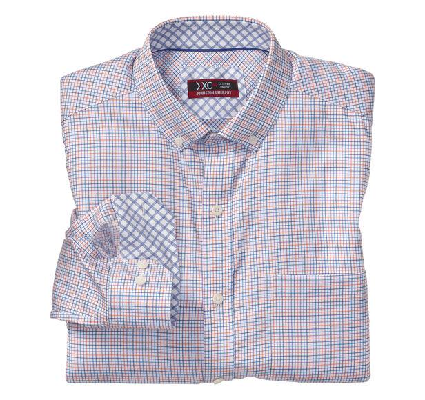 XC4® Colorful Micro Check Button-Collar Shirt