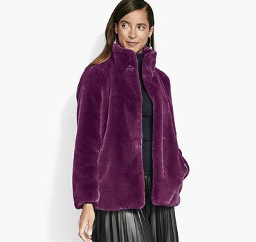 Short Faux-Fur Bunny Coat
