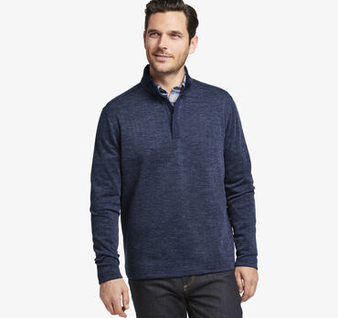 Herringbone Knit Quarter-Zip