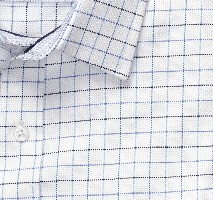 Dotted Windowpane Dress Shirt