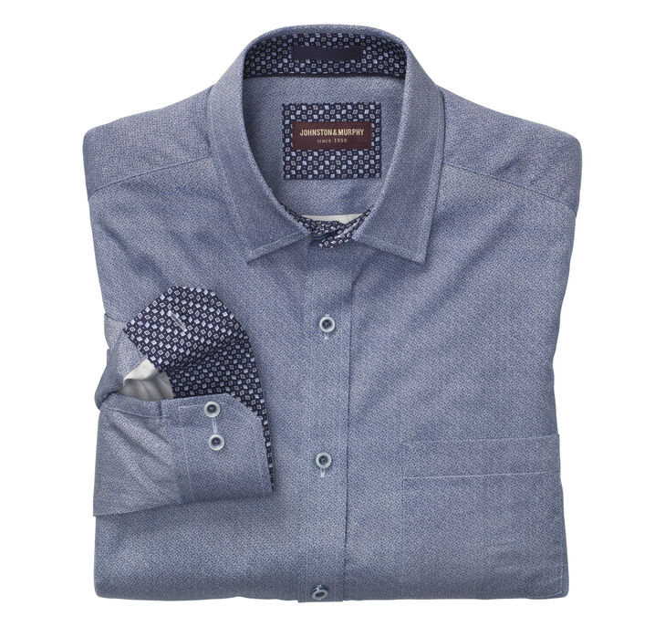Interlock Puzzle Circles Print Shirt