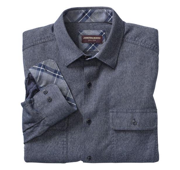 Brushed Melange Shirt Jacket