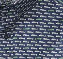 Fishbone Print Short-Sleeve Shirt