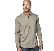 Button-Front Knit Shirt