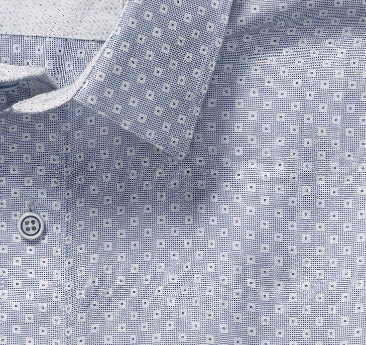 Square Dot Linen Camp Shirt