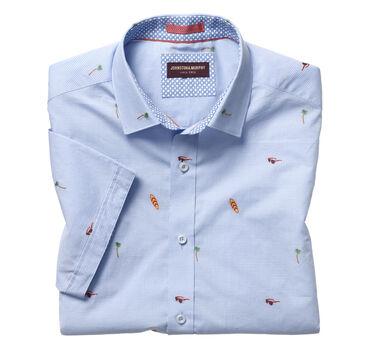 Summer Fun Clip-Embroidered Short-Sleeve Shirt