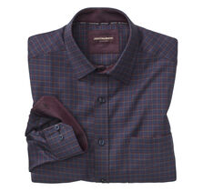 Textured Arrow Windowpane Point-Collar Shirt