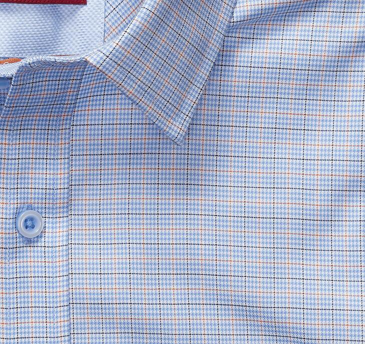 XC4® Mini Houndstooth Check Point-Collar Shirt