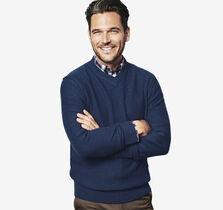 Plaited V-Neck Sweater