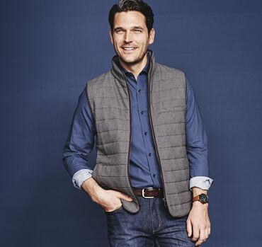 Italian Quilted Wool Vest