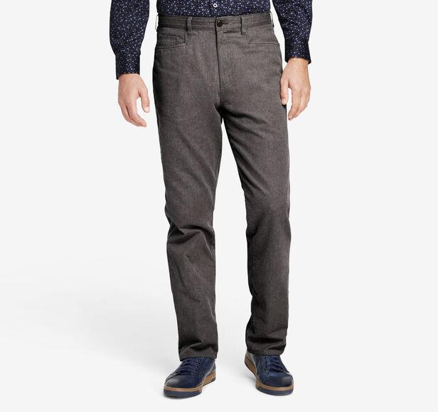 Regular-Fit Brushed Pima Cotton Five-Pocket Pant