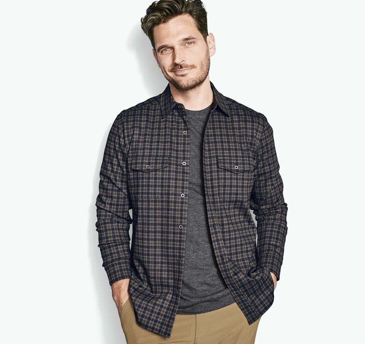 Button Front Knit Shirt