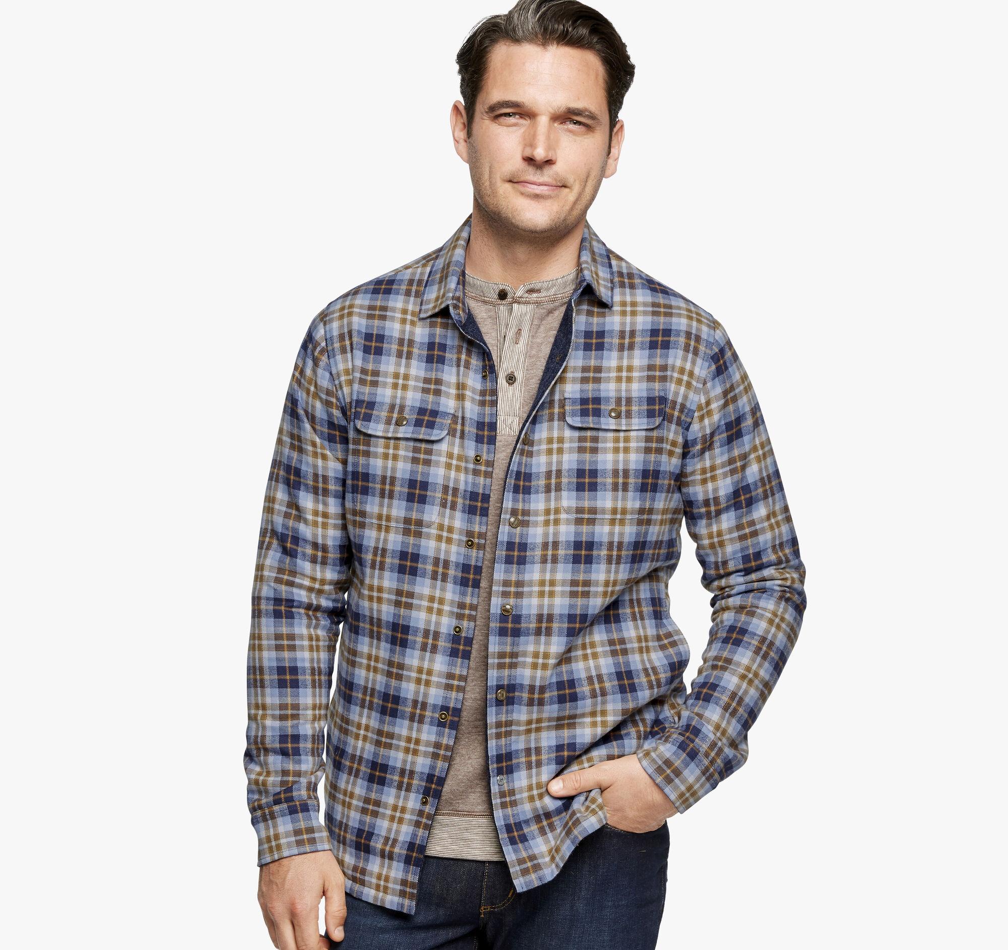 592cfeb421d4 Brushed Shirt Jackets | Johnston & Murphy