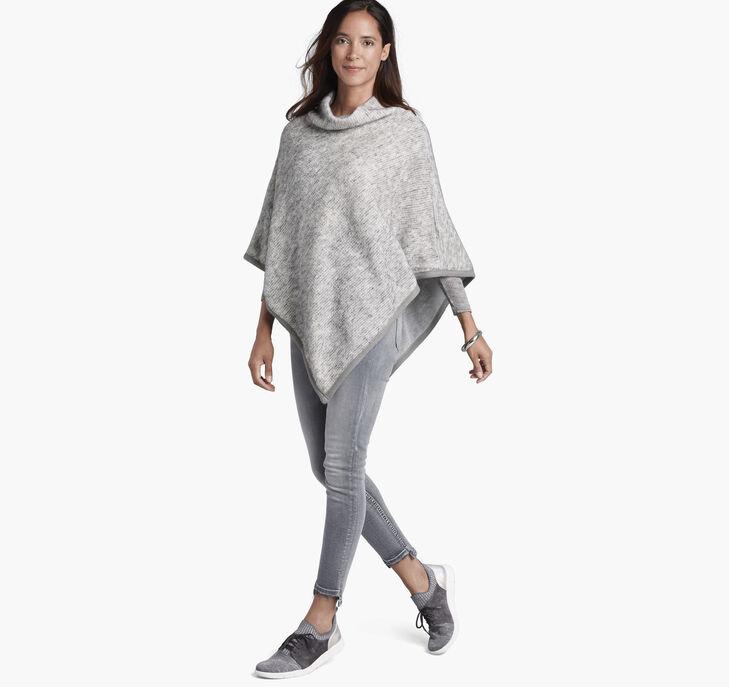 Fuzzy Knit Poncho