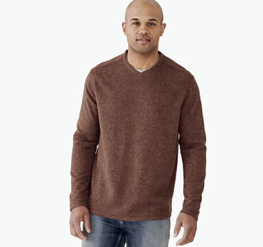Long-Sleeve Plush V-Neck