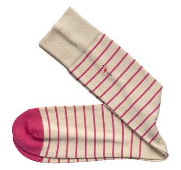 Embroidered Stripe Socks