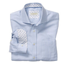 Italian Broken Square Check Dress Shirt