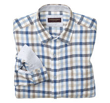 Multi Gingham Washed Linen Shirt