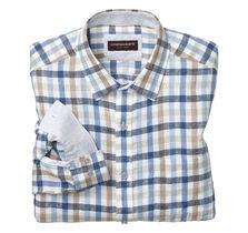 Multi Gingham Washed Linen Shirt