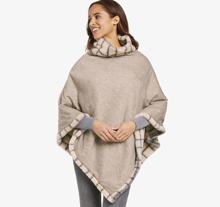 Reversible Faux-Fur Poncho