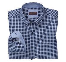 Dark Grid Check Button-Down Collar Shirt