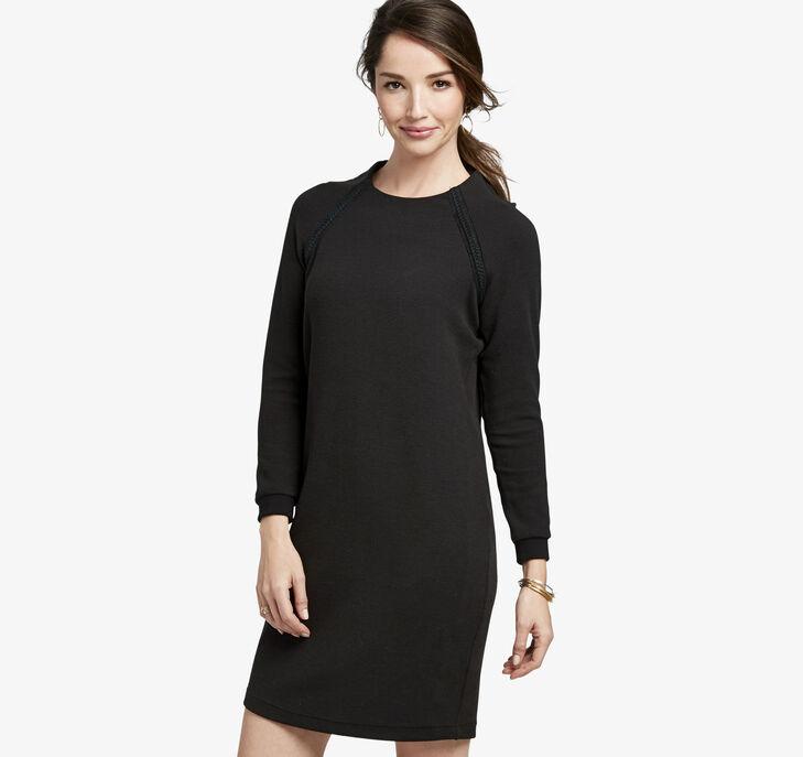 Braid-Trimmed Knit Dress