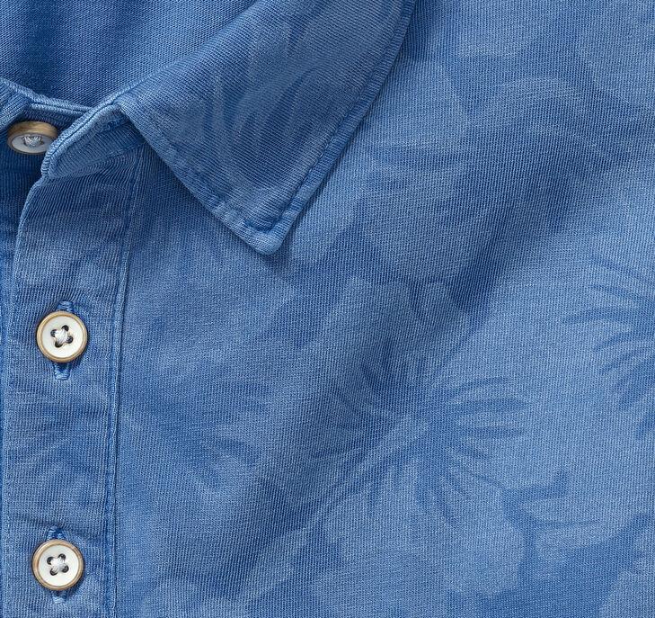 Garment-Dyed Printed Polo