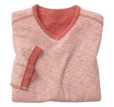 Reversible Slub-Knit V-Neck