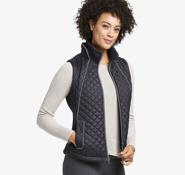 Diamond-Quilted Vest