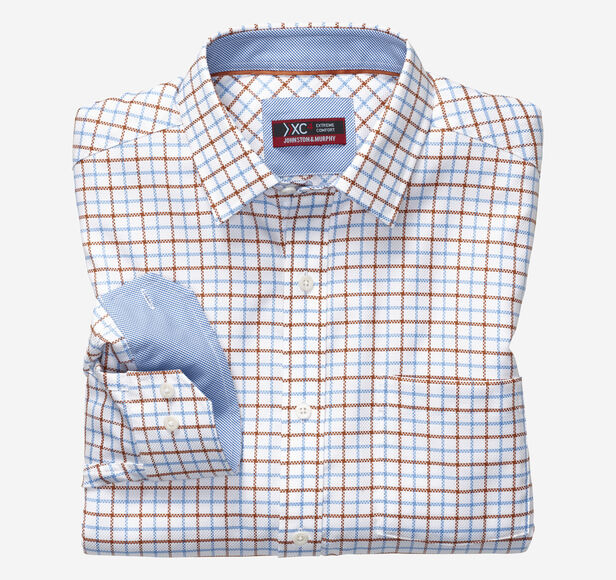 XC4® Link Windowpane Point-Collar Shirt