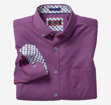 XC4 Micro Gingham Button-Collar Shirt