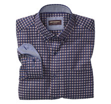 Dark Twill Gingham Button-Down Collar Shirt