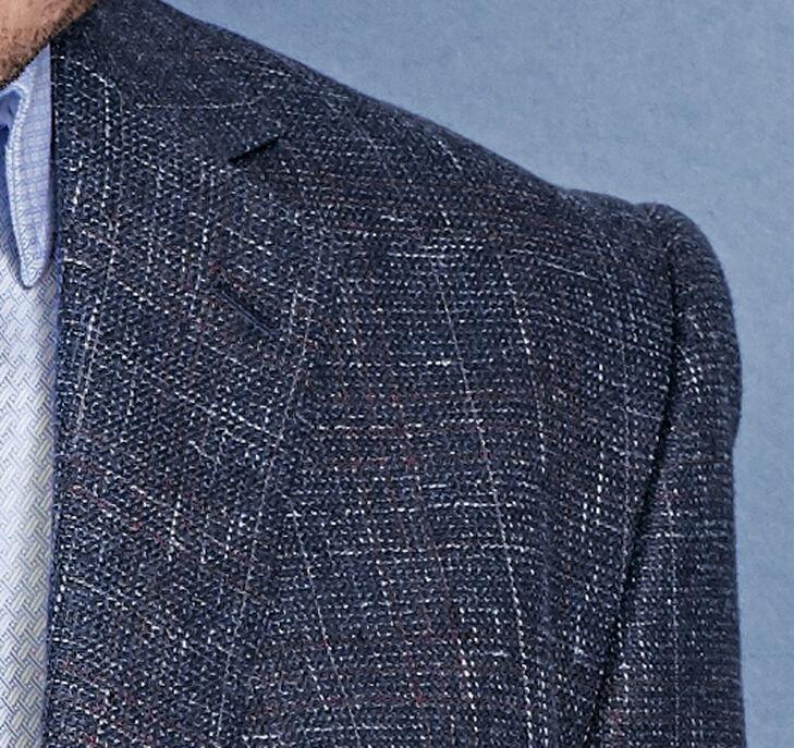 Collection Windowpane Textured Blazer