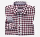 European Multi-Texture Gingham Shirt