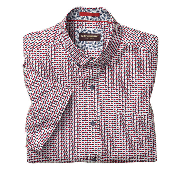 Mini Fish Print Short-Sleeve Shirt