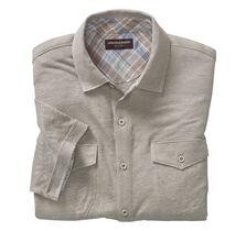 Linen Knit Button-Front Shirt
