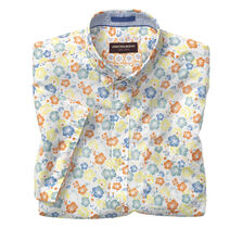 Hibiscus Print Short-Sleeve Shirt