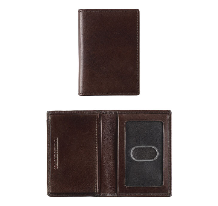 Italian Leather Bifold Card Case