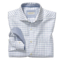 Italian Dash Windowpane Dress Shirt