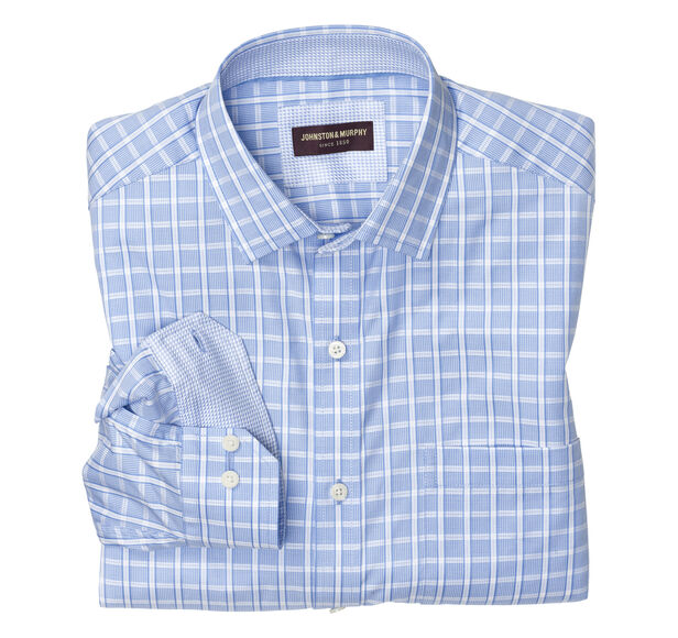 Textured Windowpane Dress Shirt