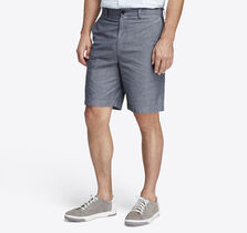 Garment-Washed Chambray Shorts