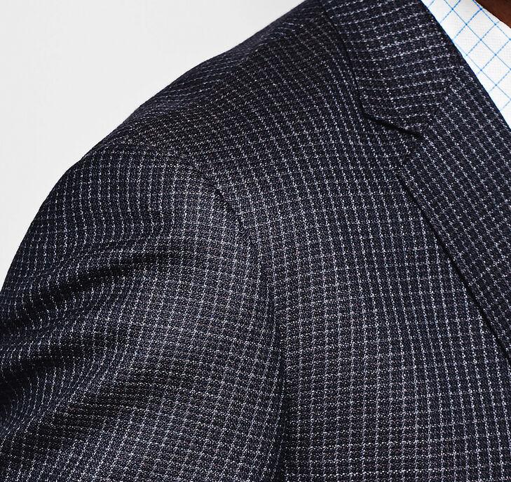 Framed Check Silk/Wool Blazer