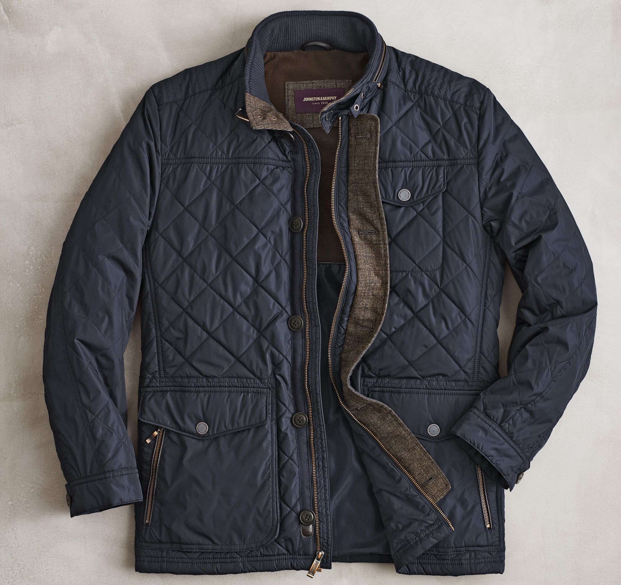 Quilted Field Jacket Johnston Murphy