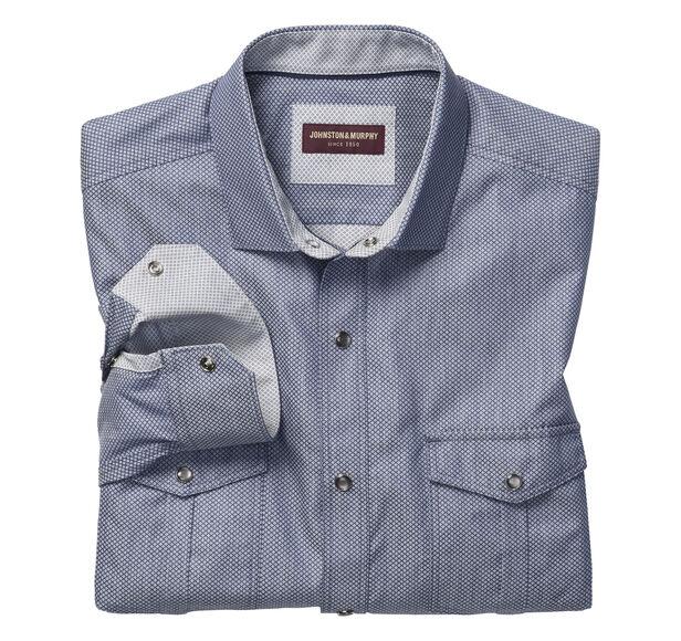 Pindot Diamond Snap-Front Shirt