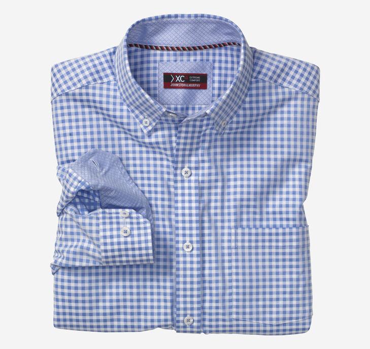 XC4® Twill Gingham Button-Collar Shirt